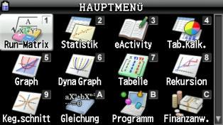 s_0002: Casio fx-CG20 Hauptmenü