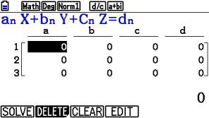 s_0012: Eingabefenster für Gleichungskoeffizienten