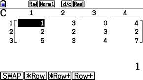s_0111: Zeilenaddition einer Matrix