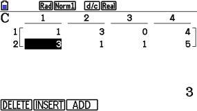 s_0112: Zeilenlöschung in einer Matrix